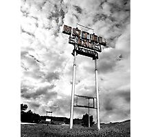 Motel Sign Photographic Print