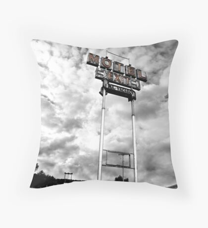 Motel Sign Throw Pillow