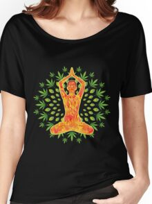 Young woman practicing meditation 8 Women's Relaxed Fit T-Shirt