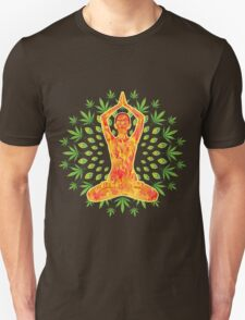 Young woman practicing meditation 8 T-Shirt