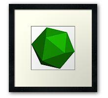 Green D20 Framed Print