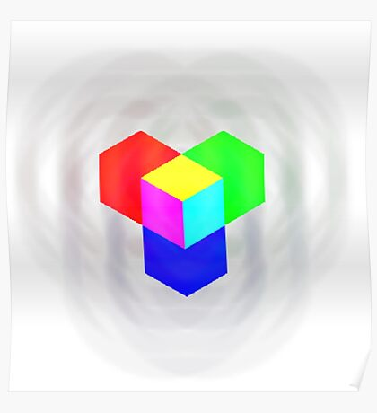 RGB - Cube Poster