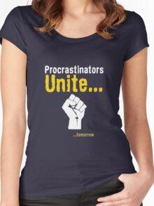 Procrastinators unite... tomorrow Women's Fitted Scoop T-Shirt