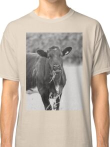 black and white cow Classic T-Shirt