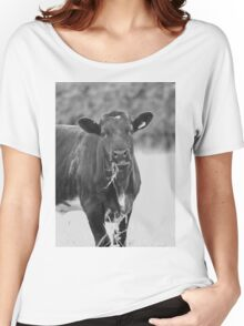 black and white cow Women's Relaxed Fit T-Shirt