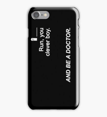 Run you clever boy and be a Doctor {FULL} iPhone Case/Skin