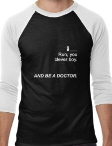 Run you clever boy and be a Doctor {FULL} Men's Baseball ¾ T-Shirt