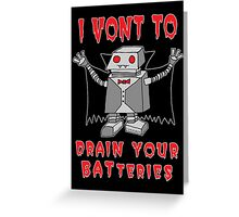 Robot Vampire Greeting Card