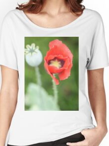red flower Women's Relaxed Fit T-Shirt