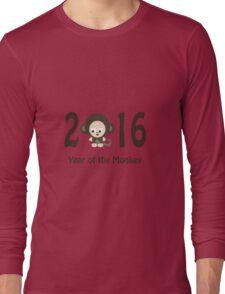 Cute 2016 Year of the Monkey Long Sleeve T-Shirt