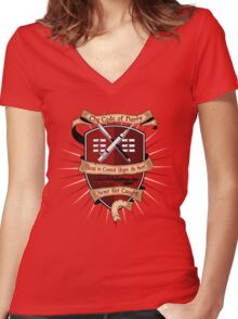 The Code of Harry ( gold ) Women's Fitted V-Neck T-Shirt