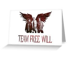 Team Free Will in RED Greeting Card