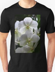 Orchid Beauty in White Unisex T-Shirt