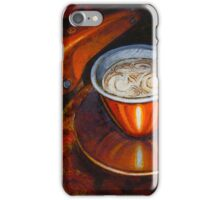 Still life with bicycle saddle iPhone Case/Skin