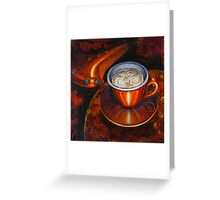 Still life with bicycle saddle Greeting Card