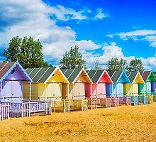 Pastel Beach Huts by Chris Thaxter