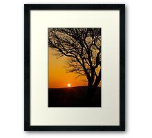 Sunset Silhouette In Derbyshire Framed Print