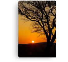 Sunset Silhouette In Derbyshire Canvas Print
