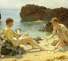 The Sun Bathers by Bridgeman Art Library