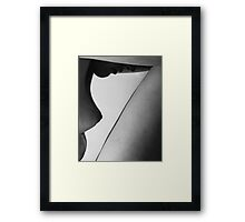 Human form abstract body part Framed Print