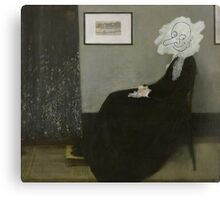 Whistler's Mother - Mr. Bean Canvas Print