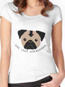Pug - The Last Airbender Women's Fitted Scoop T-Shirt