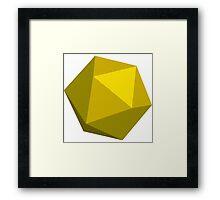 Gold D20 Framed Print
