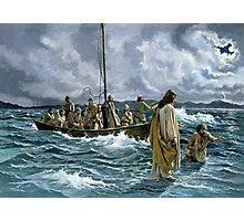 Christ walking on the Sea of Galilee Photographic Print
