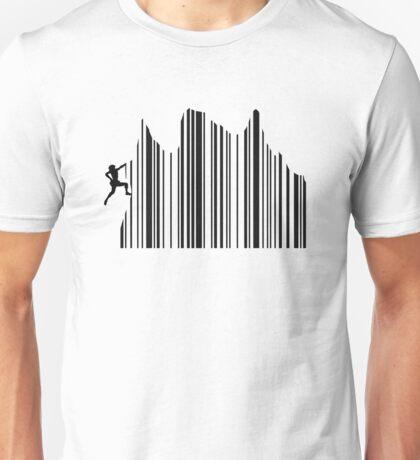 Climbing Barcode Unisex T-Shirt