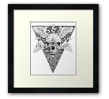 Ajna awakening - lines Framed Print