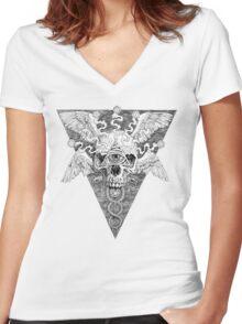 Ajna awakening - lines Women's Fitted V-Neck T-Shirt