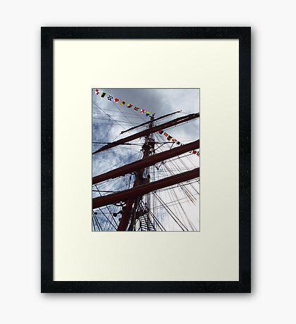 Mast of Windjammer Седов Framed Print