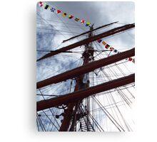 Mast of Windjammer Седов Canvas Print