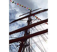 Mast of Windjammer Седов Photographic Print