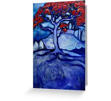 I dream of Scarlet Trees Greeting Card