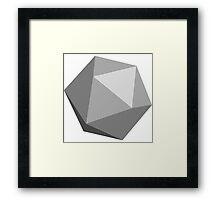 Light Grey D20 Framed Print