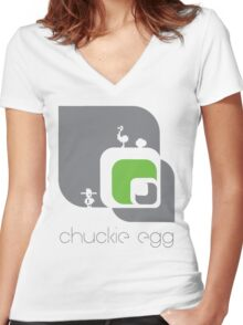 Chuckie Egg Women's Fitted V-Neck T-Shirt