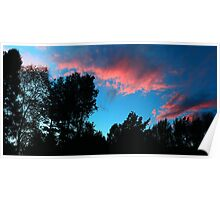 Redish Clouds Poster
