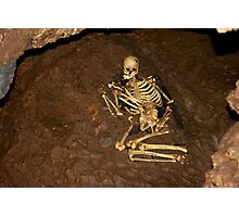 skeleton cheddar gorge Photographic Print