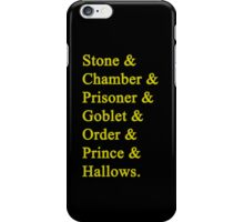 Hufflepuff Potter iPhone Case/Skin