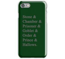 Slytherin Potter iPhone Case/Skin
