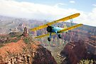 Boeing Stearman at Mount Hayden, Grand Canyon by Gary Eason