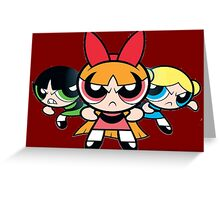 Powerpuff Girls - Angry Greeting Card