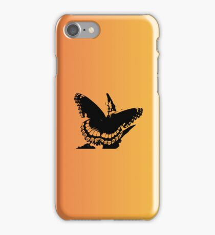 Butterfly silhouette iPhone Case/Skin
