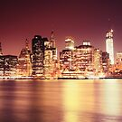 New York City - Night Lights by Vivienne Gucwa