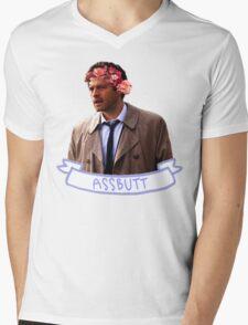 Assbutt Mens V-Neck T-Shirt