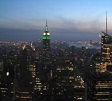 NYC skyline at sunset by gsball14