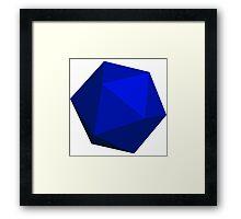Blue D20 Framed Print