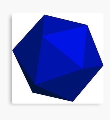 Blue D20 Canvas Print