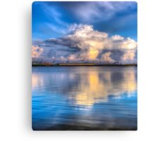 Crosby marina HDR storm clouds Canvas Print